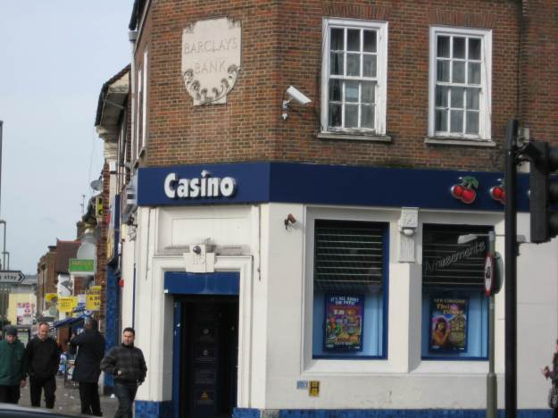 Burnt Oak: once a Barclays Bank, now a Casino. No change there, then.