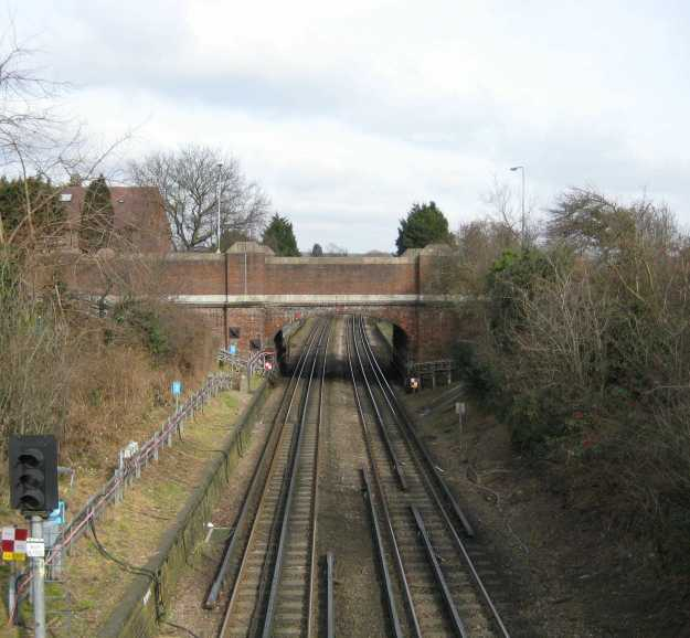The view from Buckhurst Hill Station. Move over Rev Awdry - Thomas the Tank Engine is coming through.