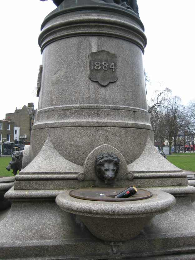 I'm not sure what the lion thinks of the super-strength cider in its Temperance Fountain.