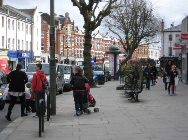 East Finchley High Street.