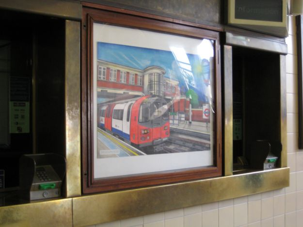 Toot! Toot! Painting by a Station Attendant.