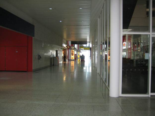 A Tenant busy floor-buffing at Excel.