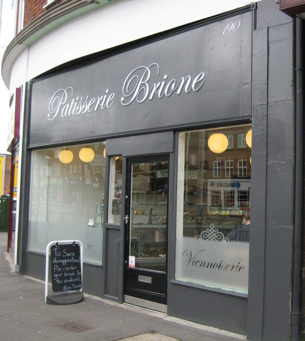 Patisserie Brione: where Mr TubeforLOLs' material being is replenished.