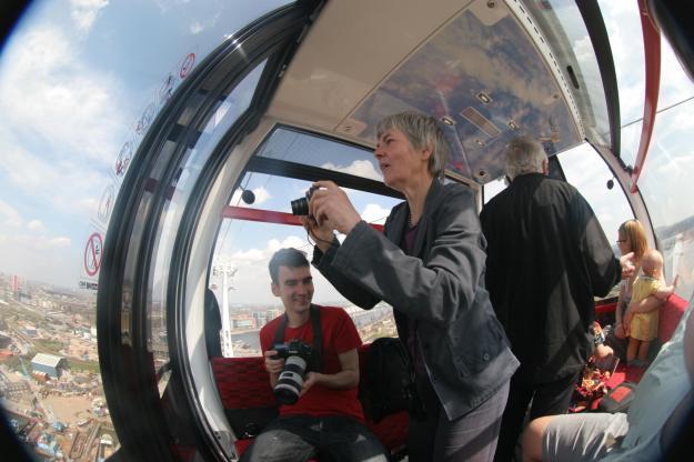 Cable Car Pandemonium: Andrew, Fran, MrTubeforLOLs, Harry's knee (foreground), Iris (mostly hidden), Becca, Hazel.