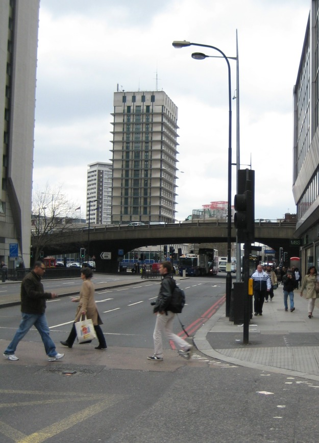 Edgware Road (Bakerloo) station just past the Westway flyover.