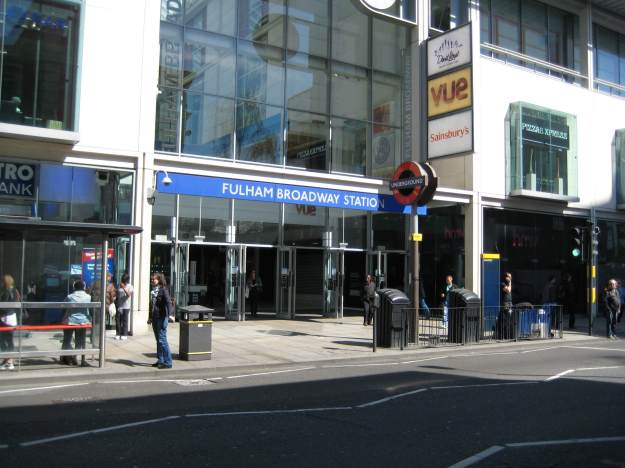 Fulham Broadway station: alas, no walrus in sight!