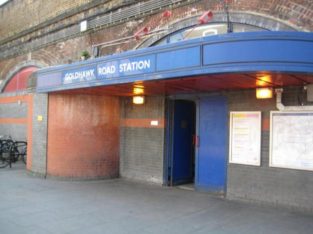 Not such a salubrious exit as some stations. Now, what does that mean?