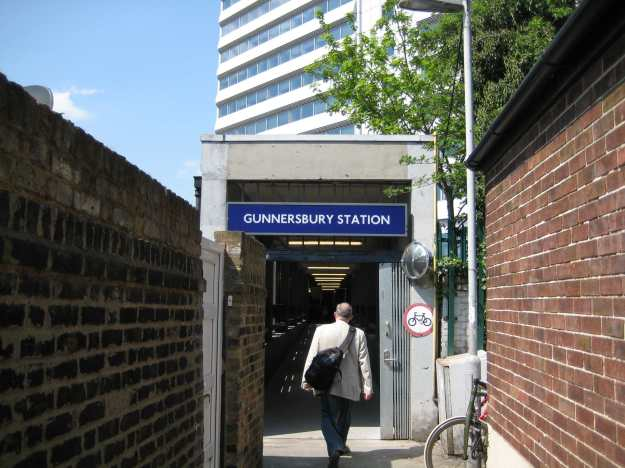 The not quite-Palladian entrance to Gunnersbury Station.