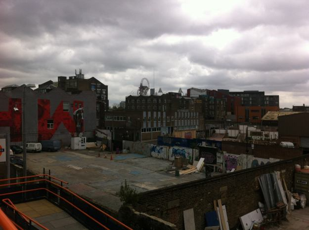 Hackney Wick skyline. The artists have arrived. Next, the developers.