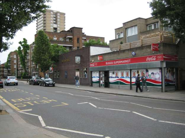 The shopping parade to the right of Latimer Road station. I decide to venture left. It seemed a good idea at the time.