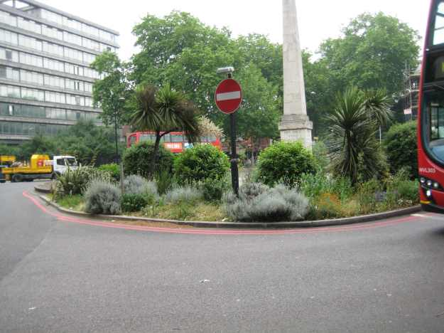 Guerilla Gardening at St George's Circus.