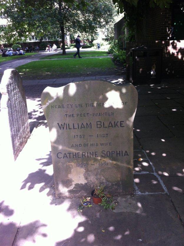 William Blake's grave in Bunhill Fields.