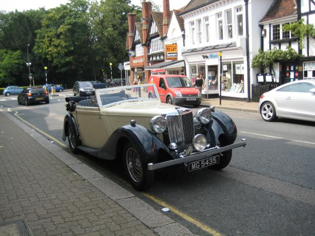 MG with pre-WW2 bodywork - like many in Pinner.