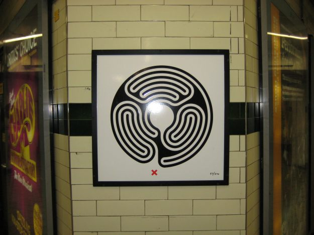 Wallinger Labyrinth number two. Perhaps it's the stations that are tilted?