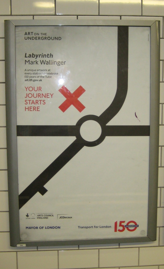 Wallinger poster. Well, I could have shown you a boring photo of the outside of Moorgate.