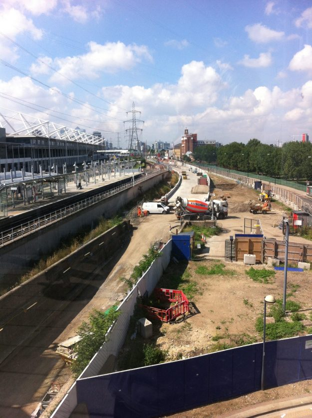 Crossrail Building Site #93: Prince Regent.