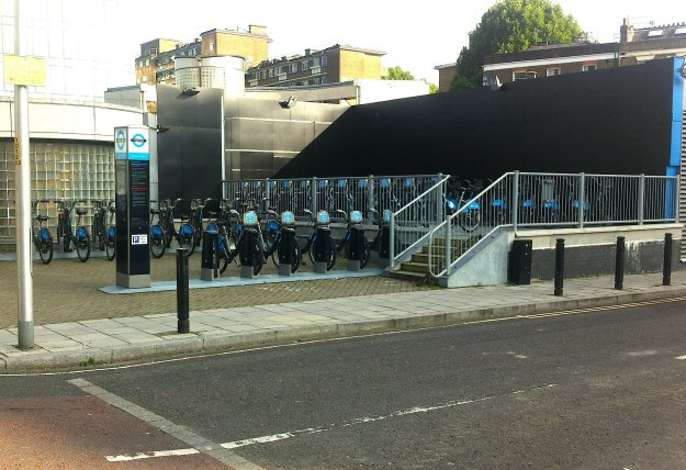 Boris Bikes behind Southwark station - nobody knows they are there!