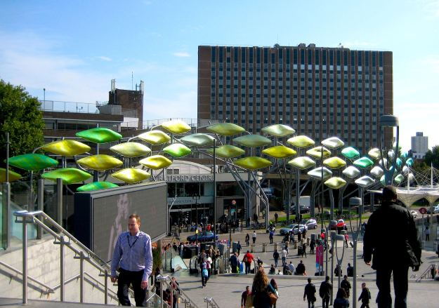 'The Shoal' from Stratford Station: designed to hide Stratford from passing Olympians.