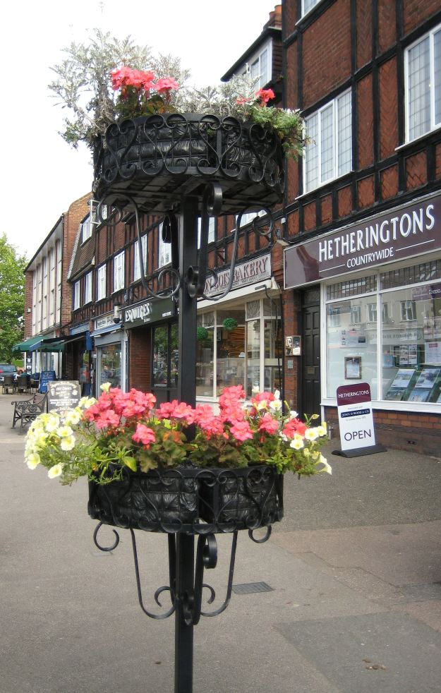 Hanging Baskets? So yesteryear! Try our new improved Free-Standing Pavement Floral Displays.