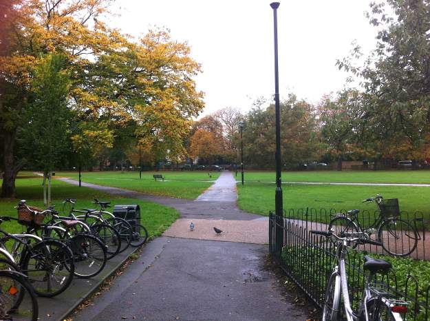 Acton Common Green - right across the road from Turnham Green station.