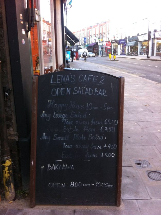Beware West Hampstead Cafes Bearing Signboards.