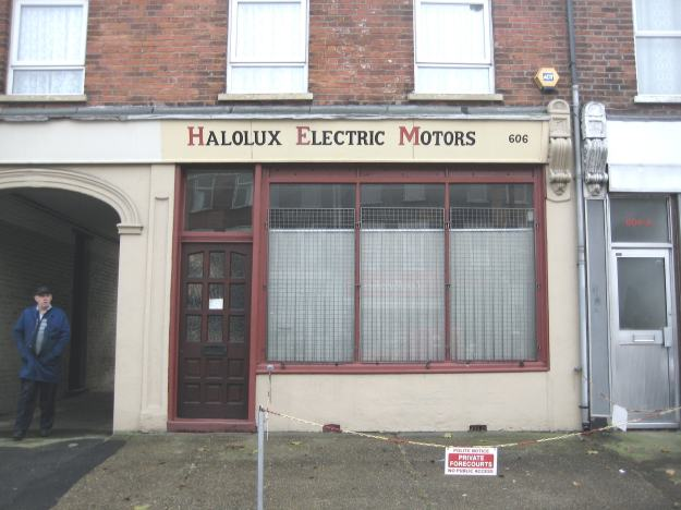 The Victor Meldrew of Manor Park. Halolux Electric Motors moved here temporarily years ago after a fire in their Romford factory. They don't make electric motors any more - they're distributors now.